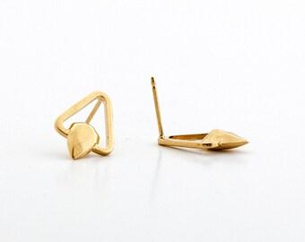 14k gold stud earrings - 14k gold earrings for women - gold earings - solid gold stud earrings - 14k yellow gold earrings - TriSolidGold