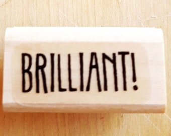 BRILLIANT Rubber Stamp retired from Stampin Up
