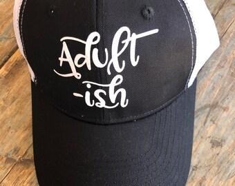 Adult ish ADULT OR TEEN Girls Trucker Hat Baseball Cap Snap Back
