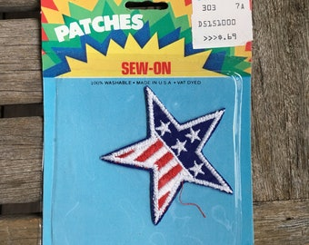 USA Star Flag Vintage Travel Souvenir Patch - New in Original Package