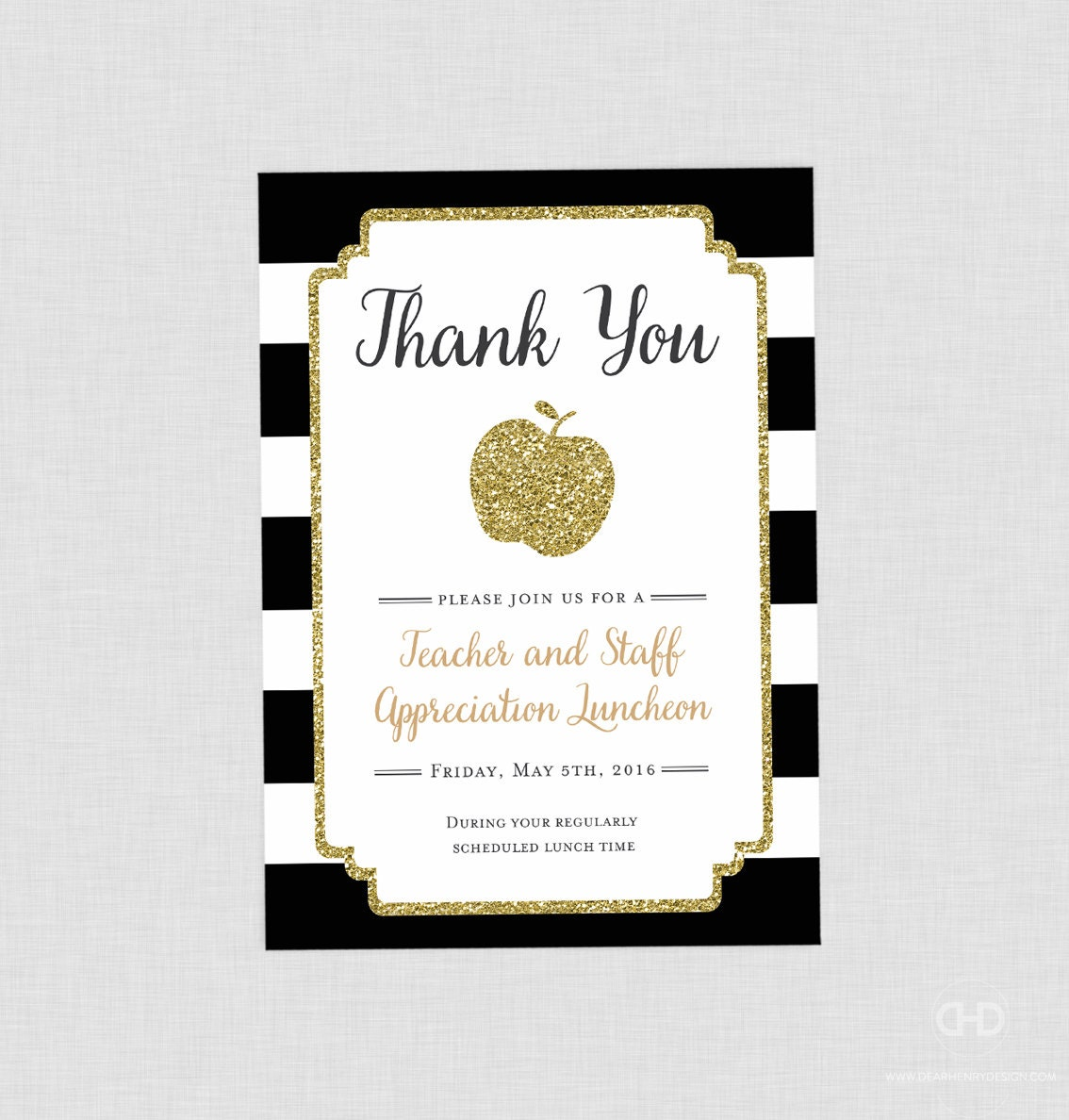 Teacher appreciation invitation apple printable teacher zoom stopboris Gallery
