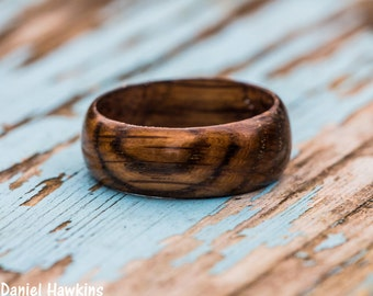 Tennessee Whiskey Barrel Wood Ring - Whiskey Barrel Ring Reclaimed Wood Wooden Ring Men Wedding Band Women Engagement Ring Wood Anniversary
