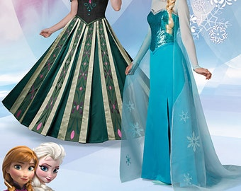 ADULT FROZEN PATTERN / Elsa Ice Queen Gown / Anna Coronation Gown