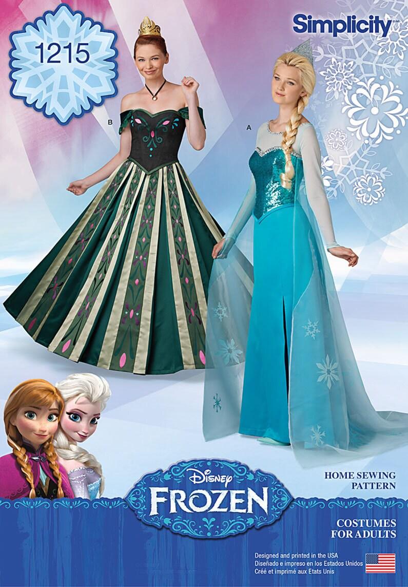 Erwachsenen gefrorenen Muster / Elsa Ice Queen Kleid / Anna