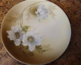 RS germany 6 1/4 inch plate dogwood roses