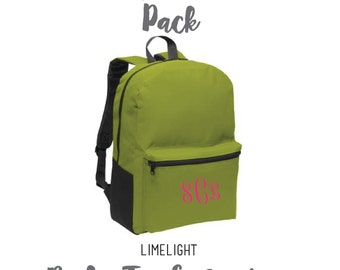 The Monogrammed Back Pack