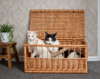 Wicker Pet Carrier Basket