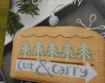 """White Christmas Series - """"Cut & Carry"""" from Hands On Designs Cross Stitch Pattern"""