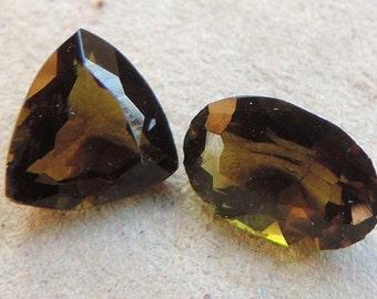 Green-Brownish Tourmalines from Taita-Kenya. Natural gemstone. #BGrTr