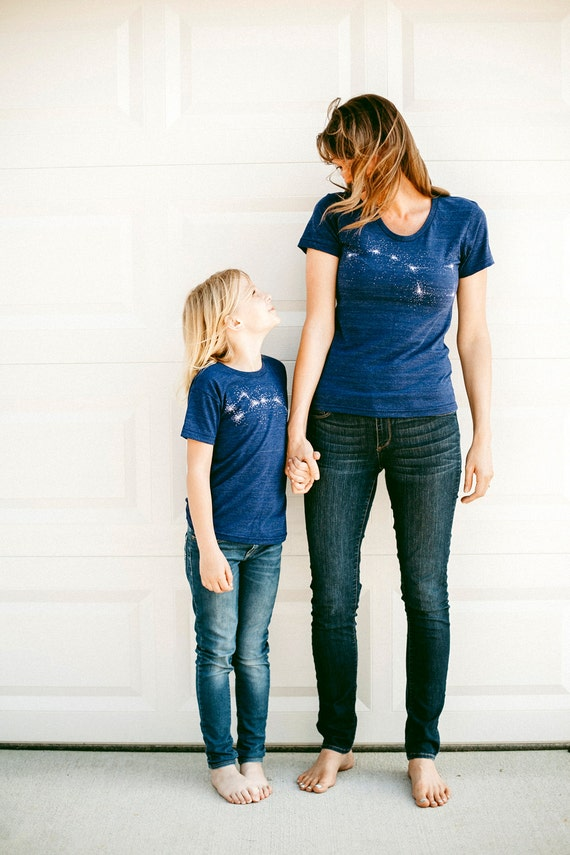 Mommy and me Big Dipper and Little Dipper tees