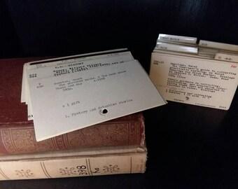 100 Dewey Decimal Library card catalog cards, Vintage Paper Art Mixed Media Wedding Supplies Book Gift Save the Date, Junk Journal, Ephemera