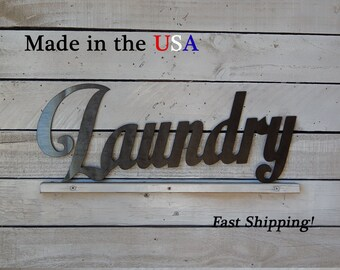 Laundry, Hotel Sign, Location Sign, Indoor/Outdoor Wall Art, House Decor, Metal Sign, Home Signs, Store Signs, Cleaning Decor, W1053