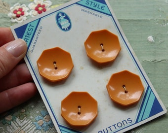 Bakelite vintage  art deco butterscotch card  1940 full set early plastic  1 1/16 inches wide