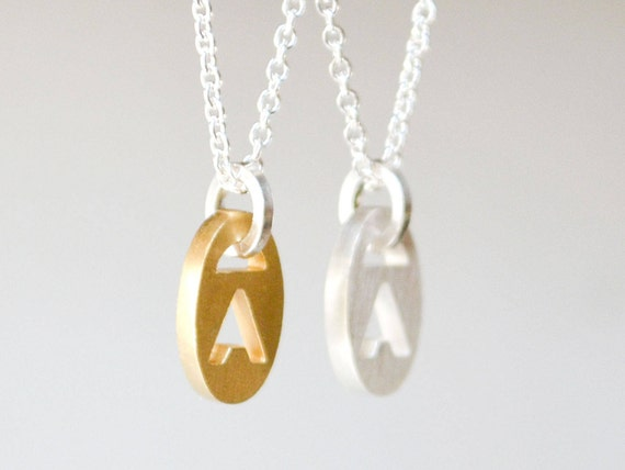 New initial necklaces tiny gold initial pendant sterling aloadofball Choice Image