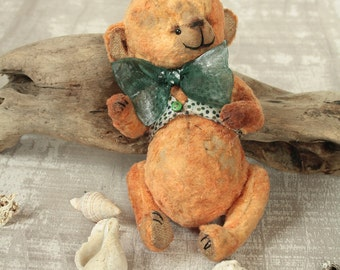 Old vintage teddy bear OOAK Dil Small antique collectible stuffed teddy bear to order