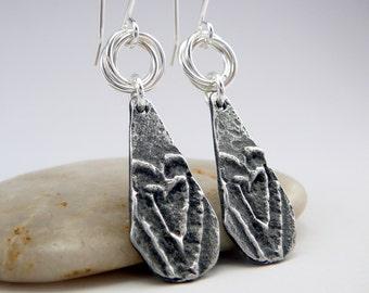 Heart Shaped Earrings, Nickel Free Earrings, Heart Jewelry, Silver Dangle Earrings, Romantic Gifts, Love Earrings, Silver Drop Earrings