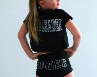 Girl cheer dance booty shorts