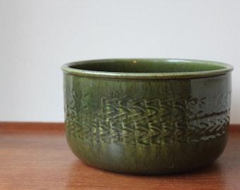 Vintage JIE Architectural Planter, Glossy Green, Sweden, Studio Pottery, Modernist, Danish Modern, Scandinavian