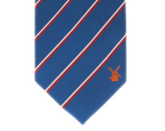 The Netherlands Tie - Inspired by the Dutch (Holland) Flag with Personalized Tag. LDS Missionary. Husband Gift, Missionary Gift