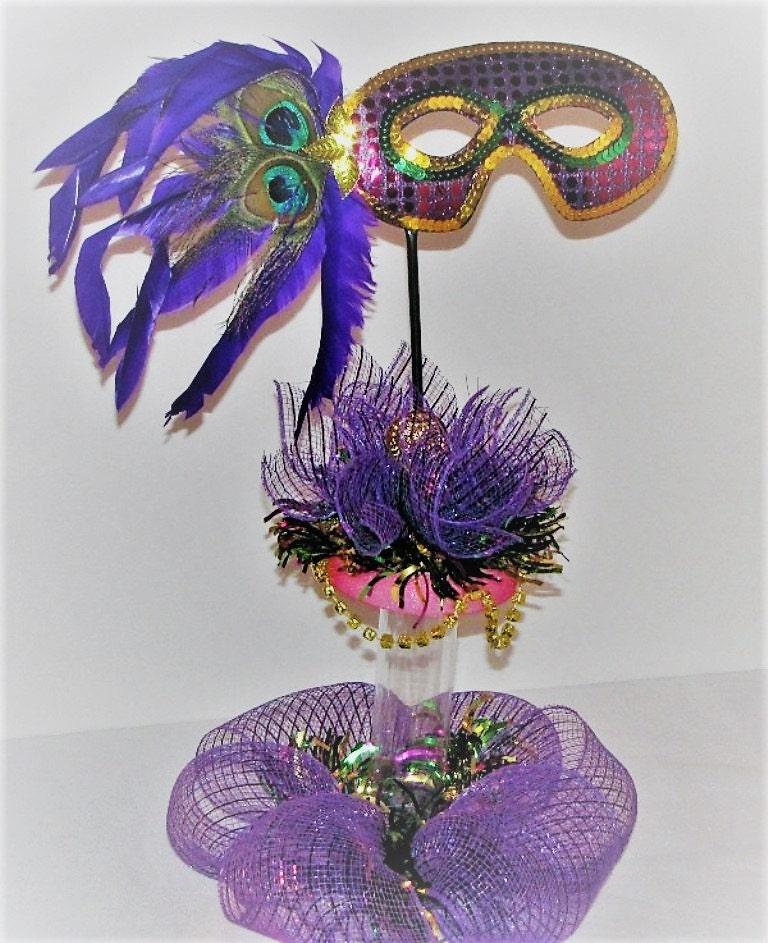Mardi Gras Wedding Ideas: Mardi Gras Mesh Ribbon Wedding Theme Decoration Centerpiece