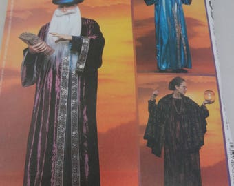 Wizard Magician McCall's Costumes Sewing Pattern Theater Halloween Uncut Adult #3339