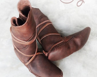 Hand Stitched Brown Leather Sole Less Moccasins, Moccasin Boots, Womens Moccasins, Moccasins, Leather Boots, Mens Moccasins Native American