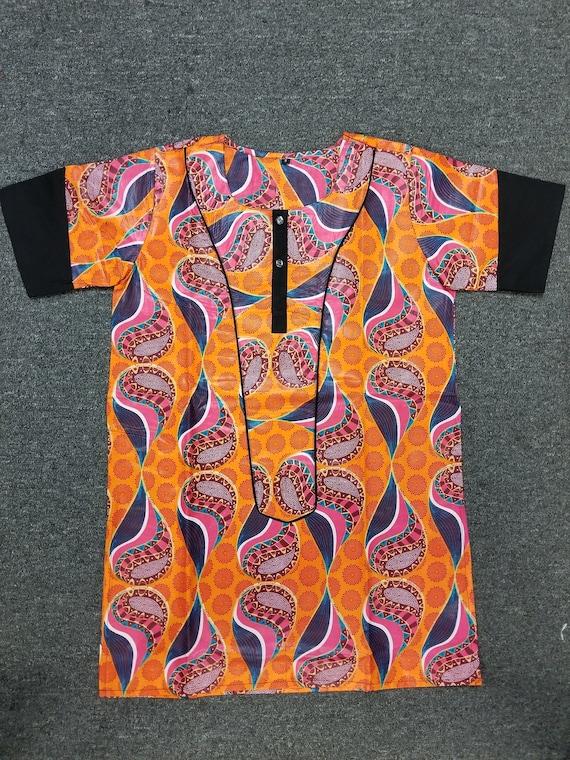 African clothing for men Dashiki S-5X Khaki DcTo6A