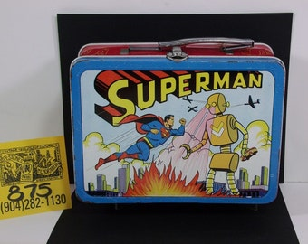 1940's Adco Superman VS the Giant Robot lunchbox