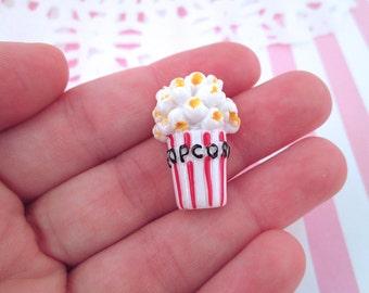 Resin Popcorn Cabochons, Cute Flatback Movie Theatre Snacks, #032