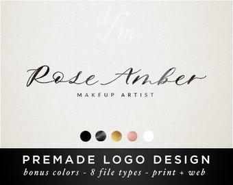 Signature Logo - Premade logo - Calligraphy Logo - Handwritten Logo - Photography Watermark - Watercolor Texture - Elegant Feminine - 62