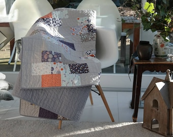"""Quilt """"French summer Evening"""", 137 x 200 cm"""