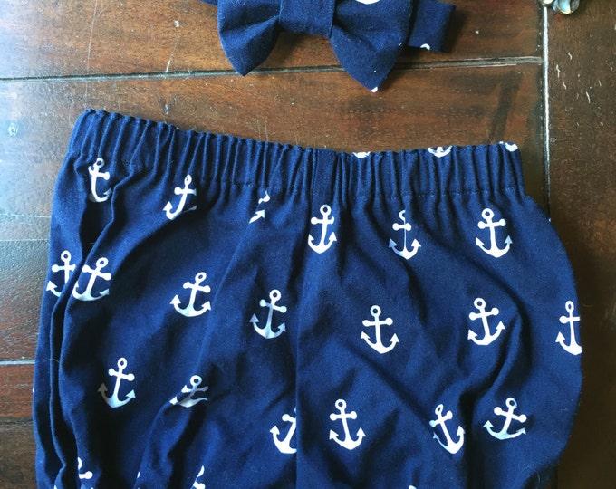 Boys Nautical 2 Piece Cake Smash Outfit, Anchor Cake Smash Outfit, Nautical Smash Cake Set.