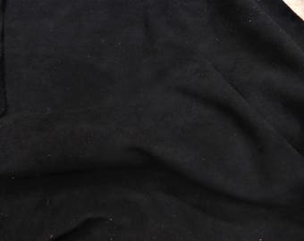 "Suede Leather 12""x12"" Black SUEDE Garment Grade Cowhide 3.5 oz / 1.4 mm PeggySueAlso™ E2827-15 Full hides available"