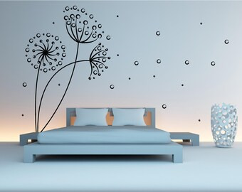 Dandelion Blowing in the wind  Wall Art Sticker Decal Transfer