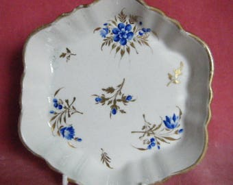 Caughley Teapot Stand Blue Flowers c.1785 Georgian Antique