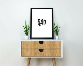 typography print // black and white art // quote print // rad poster // minimalist wall art // motivational poster