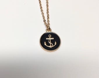 anchor necklace, gold anchor necklace, anchor necklaces, anchor jewelry, anchor pendant, anchor, gold anchor, gold necklace, necklace