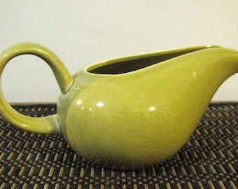 Russel Wright American Modern Chartreuse Creamer by Steubenville