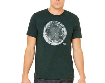 Tree Trunk Cross Section Tee - Men's