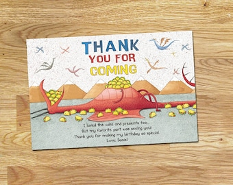 Dragon Loves Tacos Thank You Card // Digital File Only // NOT an Instant Download