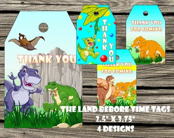 The Land Before Time Thanks Tags Land Before Time Tags The Land Before Time Thank You Tags The Land Before Time Party Supplies Land Before