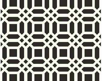 Riley Blake Vivid Black Lattice Fabric, 1 yard