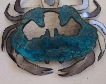 Patina Crab Ornament
