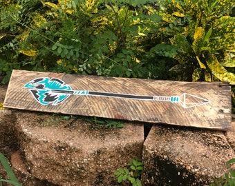 Rustic Pallet Wood Arrow Wall Art