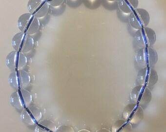 Clear Quartz semi precious 8mm gemstone bracelet