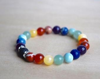 Harmony Jewellery / 7 chakras meditation, calming bracelets, energy bracelet, self care, protective bracelet, protection bracelet, group 10