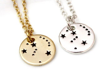 Orion Necklace Sterling Silver, Orion Constellation Necklace, Necklace Horoscope, Orion Constellation Jewelry, Gold Astrology, Orion Gift
