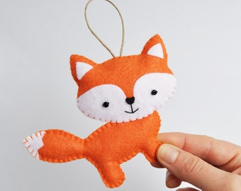 Friendly Orange Fox Christmas Ornament - Baby Shower - Party Favor