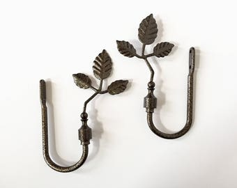 Curtain Tiebacks - Drapery Tiebacks - Tree of Life Home Decor - Vintage Window Treatments - Curtain Tie Backs - Drapes Holder - Valance Ties