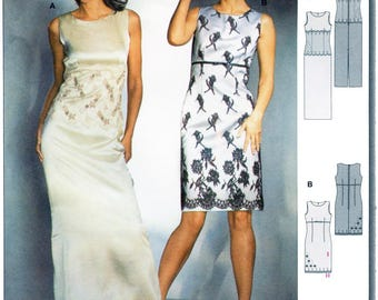 Burda 8323 Misses' Close-fitting Cocktail & Evening Dress with Lace sizes 8-20
